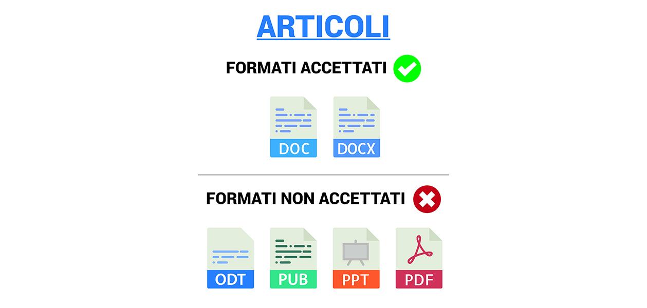 Articoli: formati accettati